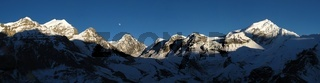 Beautiful view from the Thorung La High Camp, Nepal