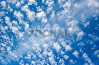 Highly detailed blue cloudy sky background