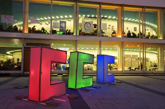 Leuchtbuchstaben, Berliner Congress Center, Berlin