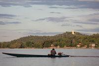 Buddha statue on Mekong river