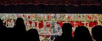 Verkaufsstand für Schnitzereien auif einem Weihnachtsmarkt