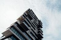 Luxury residential skyscraper against sky in Berlin