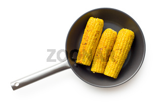 roasted corn on pan