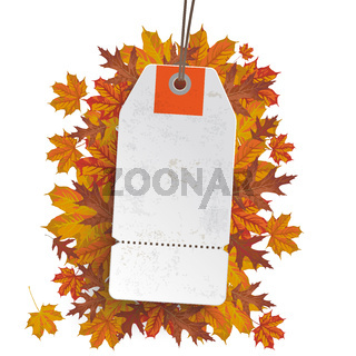 White Price Sticker Autumn Sale PiAd