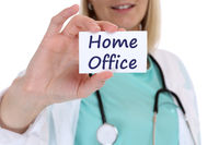 Home office work working Corona virus coronavirus disease female woman doctor healthy health