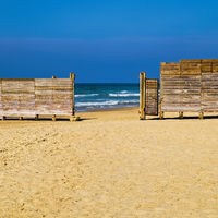 The Wall Separating Religious Part of the Beach
