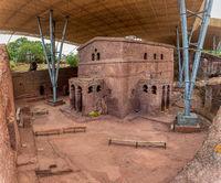 House of the Cross church, Lalibela, Ethiopia, Africa
