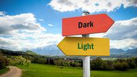 Street Sign Light versus Dark