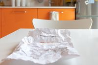 A crumpled sheet of paper with a diet.