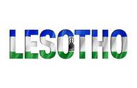 lesotho flag text font