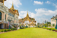 View of Grand Palace complex in Bangkok