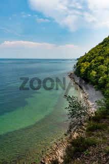 Wilde Steilkueste zwischen Binz und Sellin im Naturschutzgebiet Granitz, 2020, Deutschland
