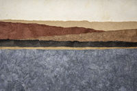 abstract landscape created with amate bark papers