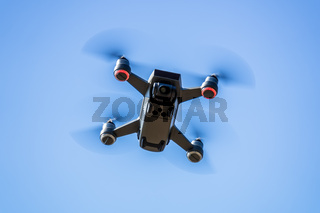 toy drone blue sky background