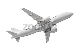 Airplane isolated on a white background