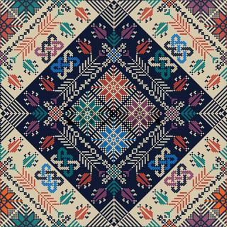 Palestinian embroidery pattern 303