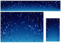 Satz Hintergründe mit vielen Wassertropfen