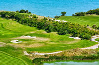 Golf Course on the Sea Shore