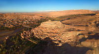 Aerial panorama of Ait Ben Haddou in Morocco
