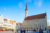 Old Town Hall people Tallinn