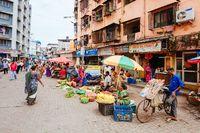 Colaba Causeway Market Stalls Mumbai India