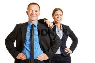 Mann und Frau als Business Team