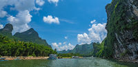 Panorama of Li River in China