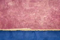 pink abd blue abstract paper landscape