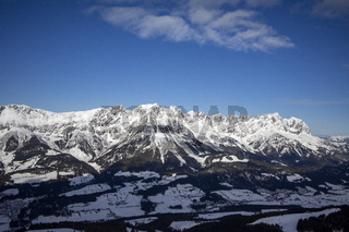 Wilder Kaiser Bergkette im Winter
