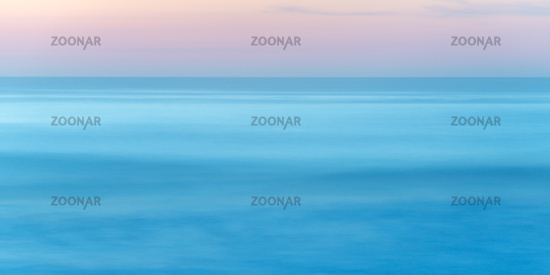 Long exposure of seascape at sunset
