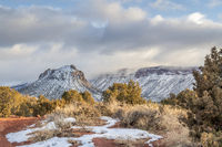 winter scenery in Castle Valley near Moab