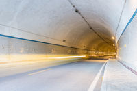 tunnel and light trails