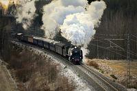 Vintage Steam Train Ukko-Pekka
