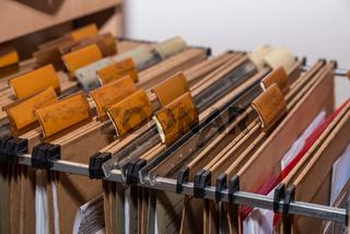 Hängeregister zur Datensammlung und  Ablage - Archiv