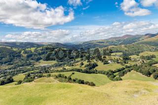 Denbigshire landscape, Wales, UK