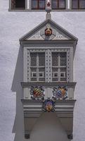 Detail der Freiberger Rathausfassade