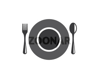 fork and spoon logo vector illustration