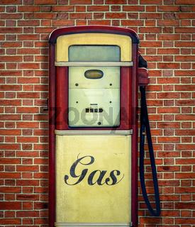 Retro Vintage Gasoline Pump
