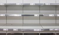 Coronavirus Empty Supermarket Shelves