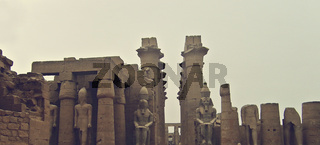 The Great Courtyard of Ramses II, Luxor Temple, Egypt