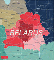 Belarus country detailed editable map