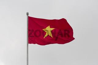 Vietnamese Flag in Hanoi