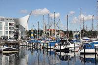 Yachthafen und Alter Leuchtturm von Eckernförde