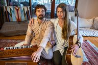 Couple with harmonium and classical guitar