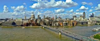 Millennium bridge panorama