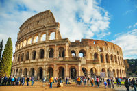 Colosseum or Flavian Amphitheatre with people