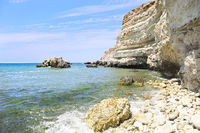 Beauty nature sea landscape of Crimea, horizontal photo