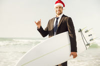Santa Business Surfist