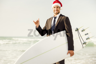Santa Business Surfist