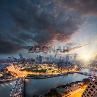 night view at shanghai china